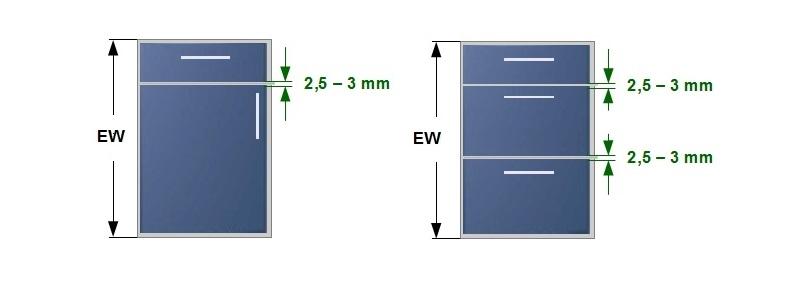 Jak obliczyć wysokości frontów w szafkach kuchennych.